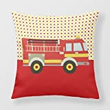 DSL&HXY B Lyster shop Treat Firefighter Lovers #2058W Cotton & Polyester Soft Zippered Cushion Throw Case Pillow Case Cover