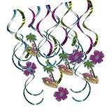 Homyl 16 Stück Hängenden Wirbel Flamingoblume Banner Girlande Sommerparty Deko
