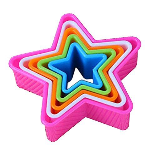 Fondant Kuchen Cookie Ausstechformen Dekorieren Formen Werkzeug Set Küche Supplies 5x, plastik, 2, Star#