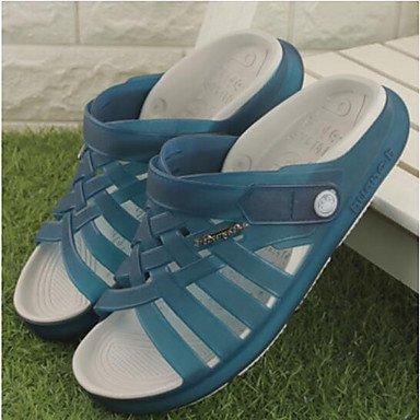 Slippers & amp da uomo;Slingback in gomma casuale di estate del tacco piatto Caffè Blu-1in 1 3 / 4in Sandali sandali US10.5 / EU43 / UK9.5 / CN45