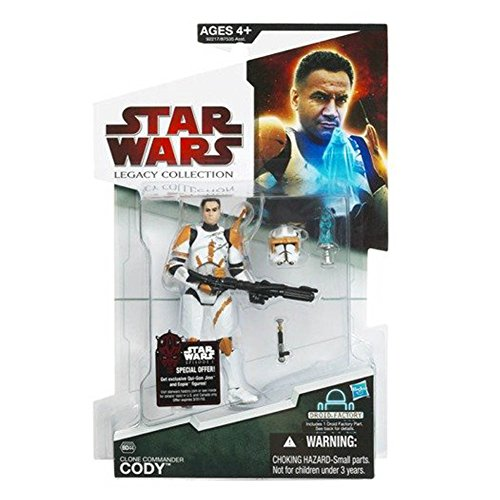 Cody Wars Commander Star (Clone Commander Cody BD44 Star Wars Legacy Collection Action)
