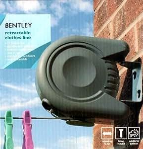 bentley fil linge avec enrouleur mural 15 m jardin. Black Bedroom Furniture Sets. Home Design Ideas