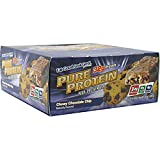 Worldwide Sports Pure Protein Bar Chewy Chocolate Chip 12 bars by Worldwide Sports
