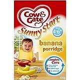 Cow & Gate Ensoleillé Démarrer Banana Porridge 4-6mth + (125g) -