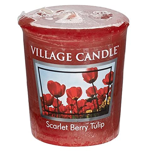 Village Candle Scarlet Berry Tulip Votive Candle, Red