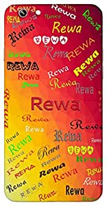 Rewa (Swift) Name & Sign Printed All over customize & Personalized!! Protective back cover for your Smart Phone : Micromax Canvas Juice 4G Q461