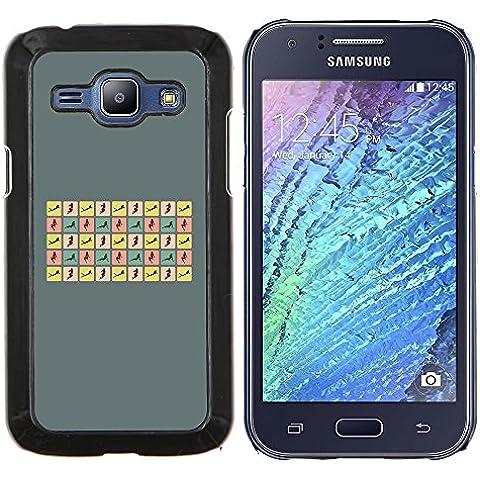 Copertura di plastica Shell Custodia protettiva || Samsung Galaxy J1 J100 || Donna sexy pone Curvy Corpo Hour Glass @XPTECH