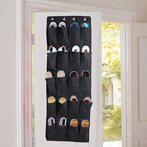 Greenmall multiuso Hanging Organizer per scarpe sopra la porta appendere 20-pocket con 4ganci per max Scarpiera
