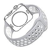 Bandmax Watch Band Weiche TPU Silikon Sportarmband Ersatzarmband Wrist Armband mit Stiftschließe...