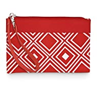 All For Color Red Geo Wristlet