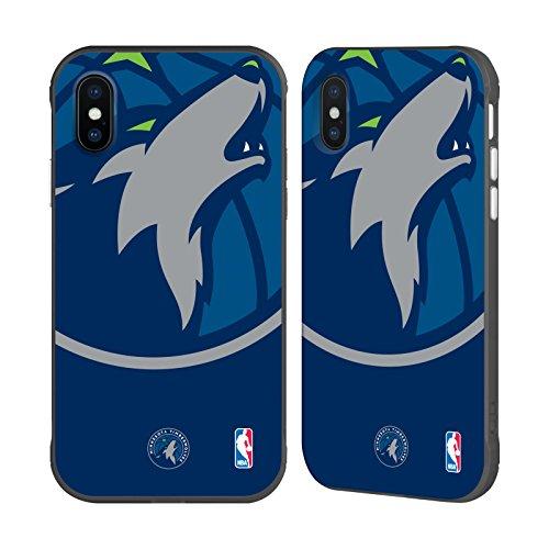 Offizielle NBA Überdimensionierte Symbol Minnesota Timberwolves Schwarz Fender Hülle für Apple iPhone X (Minnesota Timberwolves Hat)