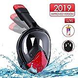 AGM Máscara de Buceo, Máscara de Snorkel 180° Panorámica, Máscara de esnórquel para Natación de Cara Completa, Anti-Niebla y Anti-Fugas para Adultos (L/XL)