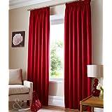 Image of 'Just Contempo Cortinas, poliéster, Parent, Parent, unidades: 1, poliéster, rojo, Curtain Pair 46x 54(Bay Window)