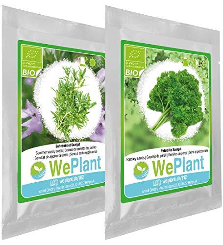 BIO Bohnenkraut & Petersilie Pflanzen-Samen Set - indoor/outdoor