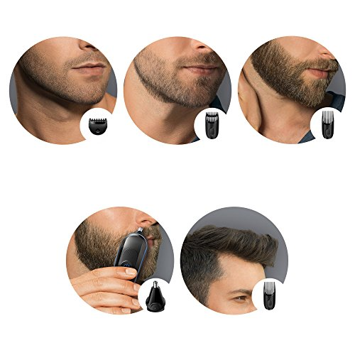 braun multi grooming kit 6 in 1 beard and hair trimming kit with nose trimmer attachment. Black Bedroom Furniture Sets. Home Design Ideas