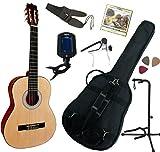 Pack Guitare Classique 3/4 (8-13ans) Pour Gaucher Avec 7 Accessoires (nature)
