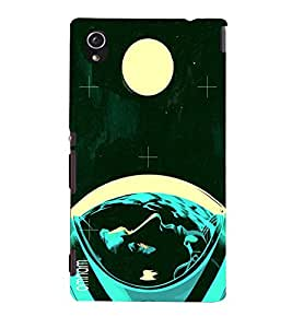 Omnam Neil Armstrong On Moon Affect Printed Back Cover Case For Sony Xperia M4