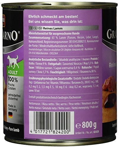 Animonda Gran Carno Sensitive Adult Reines Lamm, 6er Pack (6 x 800 g) - 4