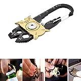 TEKON 20in 1Edelstahl Schraubendreher Schlüssel Schlüsselanhänger Survival EDC Pocket Multi Tool Kit
