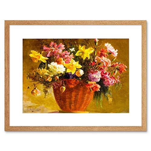STILL LIFE CARNATION DAFFODIL FLOWER SWISS BARTEZAGO ITALY ART PRINT B12X12260 - Daffodil Fine Art