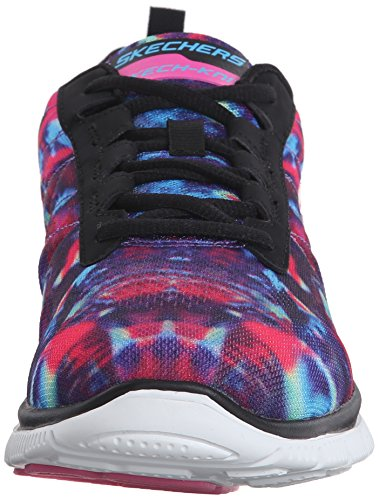Skechers (SKEES) Flex Appeal-cosmic Rays, baskets sportives femme noir (BKMT)