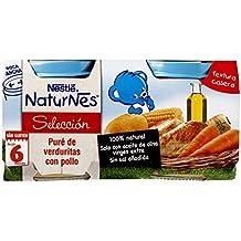 Naturnes Selección Puré De Verduritas Con Pollo A Partir De 6 Meses - Pack de 2 x 200 g - Total: 400 g