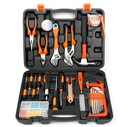 YaeTek 100 Stück,Werkzeugkasten, Multifunktional & Universal 100in 1,Präzisions-Schraubendreher, Hammer, Set, Reparatur, Werkzeug für Haushalt, Elektronik, Test, Wartung (100 St)