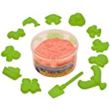 #9: AsianHobbyCrafts Kinetic Sand with 12 Shaping Tools: Color - Orange : Wt - 300gm : for Sand Modeling, Kids' Activities, DIY Crafts