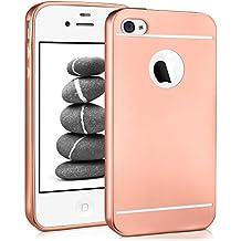 Caso suave para iPhone 4 / 4S | Funda de silicona con efecto metálico mate | Protección de celda fina bolsa de OneFlow | Backcover en Rose-Gold