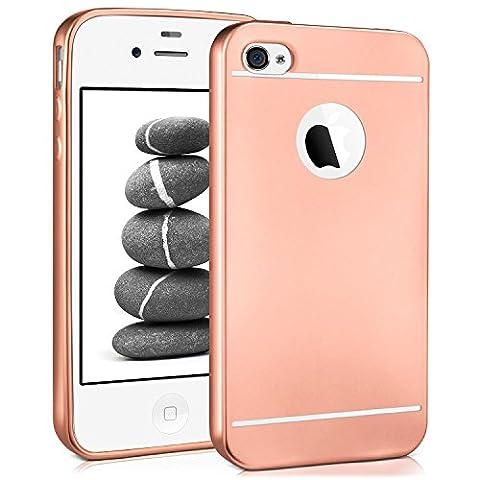 Smooth Case pour iPhone 4 / 4S | Etui en silicone avec effet métallique mat | Thin Sac de protection cellulaire OneFlow | Backcover en