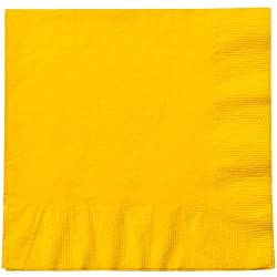 Party Dimensions Sunshine Luncheon Napkin, 20 Count, Yellow