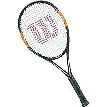 Wilson Nitro Lite 105 W/O - Raqueta de tenis, color negro / naranja / amarillo, talla 2