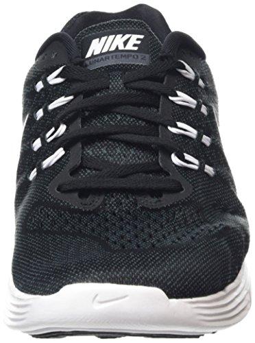 Nike Lunar Tempo 2, Chaussures de Running Compétition Homme, Bleu, Taille Noir / blanc / gris (noir / blanc - anthracite)