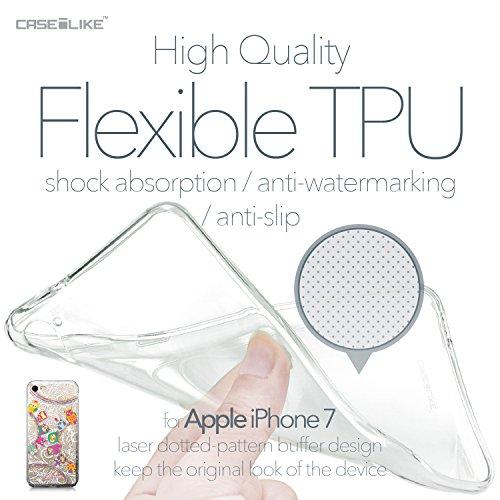 CASEiLIKE iPhone 7 Hülle, iPhone 7 TPU Schutzhülle Tasche Case Cover, Comic Beschriftung 2914, Kratzfest Weich Flexibel Silikon für Apple iPhone 7 Eule-Grafikdesign 3316