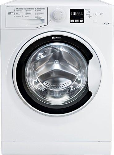 Bauknecht WA Soft 8F41 Waschmaschine Frontlader / A+++ -10{c1056a65470f2c7459ad1b92656ad1ebc2618eae78272626bc8a07476ca923b1} / 1400 UpM / 8 kg / Weiß / langlebiger Motor / Nachlegefunktion / Wasserschutz