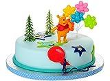 Tortendeko Winnie Puuh 4 teiligTortenaufleger 1 Geburtstag Kindergeburtstag Kuchen Deko