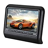 CAPTIANKN Car DVD-Display, 10,1 Zoll Hanging Entertainment Video Car Headrest DVD Display,Black