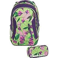 Satch Sac à dos d'écolier Set de 2accessoires avec Sleek Ivy Blossom 9h5Ivy Blossom