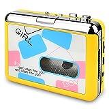 DIGITNOW! Kassettenspieler-Kassette zu MP3 / CD-Recorder über USB, tragbarer Kassettenkonverter Wandelt Walkman-Kassette in digitales Format Um, Kompatibel mit Mac und PC(Gelb)