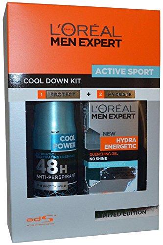 L'Oreal Men Expert Active Sport Cool Down Kit Confezione Regalo 50ml Hydra...