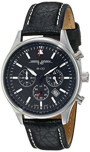 Jorg Gray - JG6500-21 - Montre Femme - Quartz Chronographe - Bracelet Cuir Noir