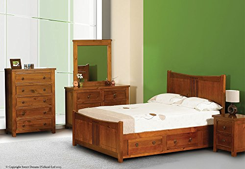 Curlew Oak Wooden King Size Bed