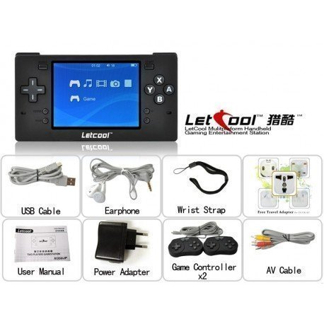 Letcool N350JP Pocket retrogame Free Video Juegos Consola + 2 gamepad incluido