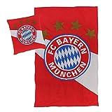 FC Bayern München Bettwäsche rot/weiß, 135 x 200cm