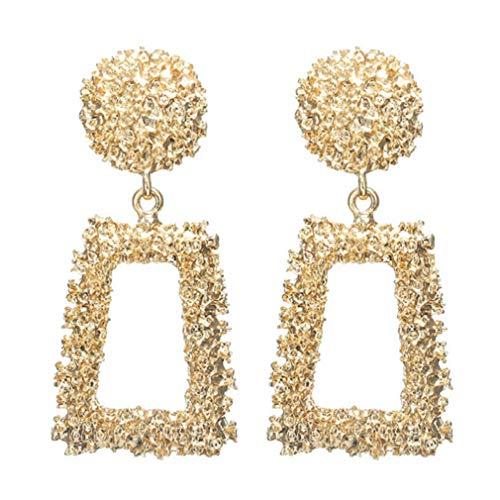 GOGO GO Mode geometrische Ohrringe Gold Relief Floral Ohrstecker Frauen Ohr Drop Schmuck Geschenk Floral Relief
