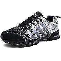 Sollomensi Zapatos para Correr en Montaña y Asfalto Aire Libre y Deportes Zapatillas de Running Padel para Hombre Deportivas EU 47 Gris