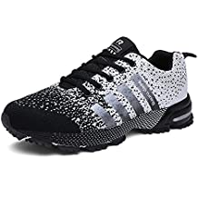 UBFEN Zapatillas de Running Padel para Hombres Zapatos Deportivas Gimnasio Correr Deportes de Exterior y Interior