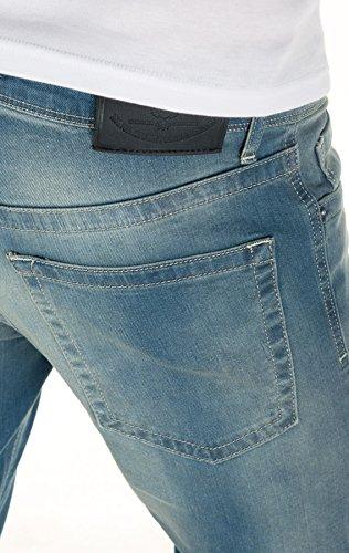 WOTEGA Herren Jeans Pete slim Blue (Blue Mirage 184215)
