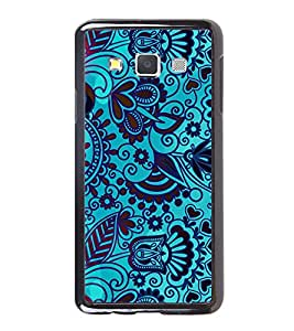 PrintVisa Floral Blue Batik Print High Gloss Designer Back Case Cover for Samsung Galaxy A3 (2015) :: Samsung Galaxy A3 Duos :: Samsung Galaxy A3 A300F A300FU A300F/DS A300G/DS A300H/DS A300M/DS