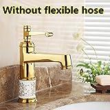 Günstigstes Goldenes Waschbecken Wasserhahn Preis in China massiv Messing Badezimmer Waschbecken Armaturen, Burgund